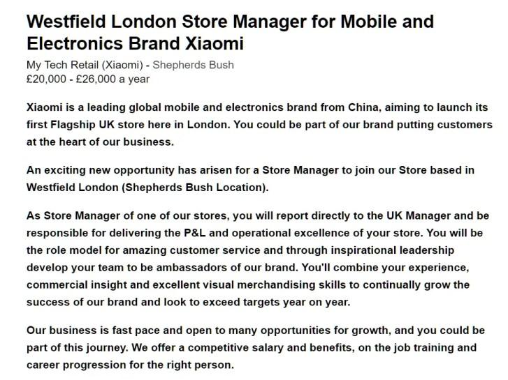 Xiaomi London