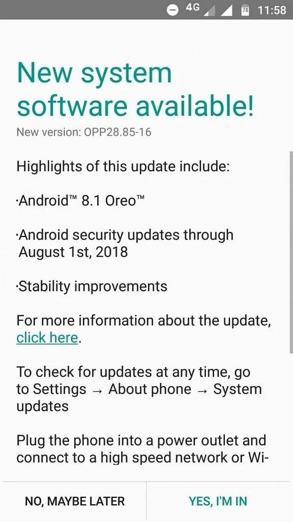 Motorola Moto G5 Android Oreo update