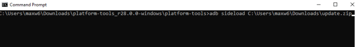 Command Prompt Interface, Picture Courtesy: xdadevelopers.com