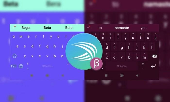 SwiftKey Beta now colors the navigation bar to match the keyboard