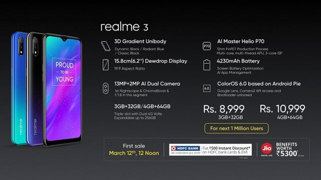 Realme 3 Launch date in India