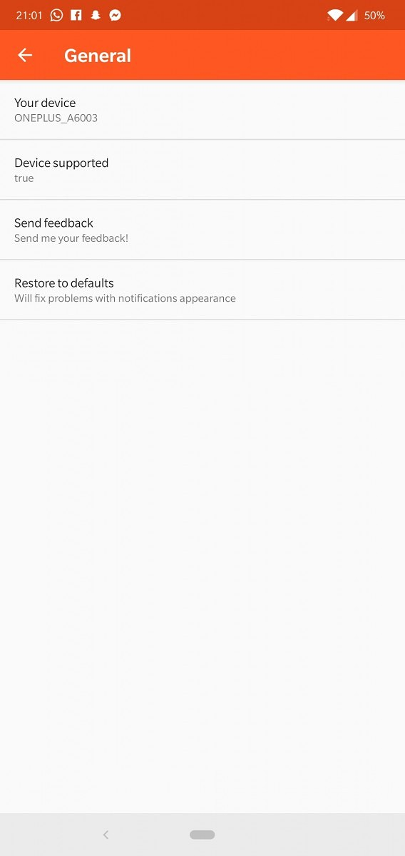 FaceNotify shows notifications on your OnePlus 5T/6/6T only