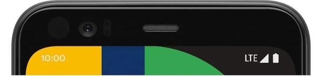 Google Pixel 4 top bezel