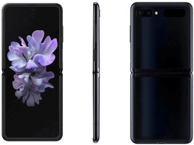 Samsung Galaxy Z Flip en noir miroir