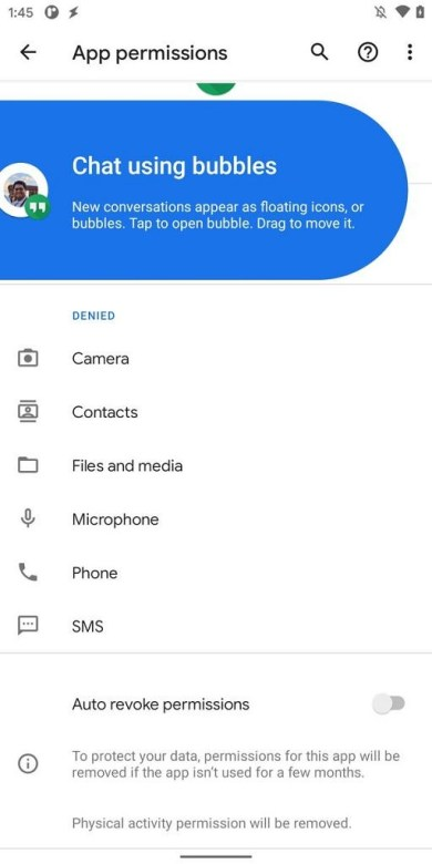 bubbles onboard Features of Android 11 Developer preview