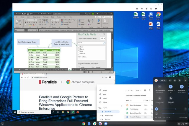 Windows app on Chromebooks via Parallels Desktop