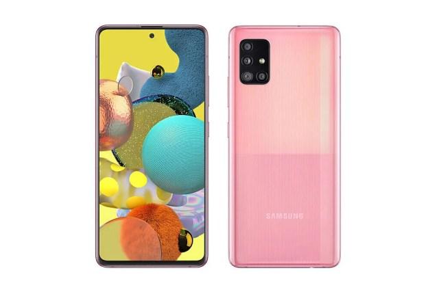 Samsung Galaxy A51 5G in pink