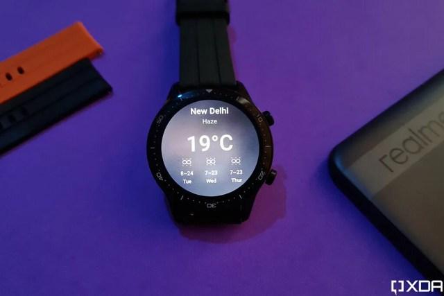 Realme Watch S Pro weather widget
