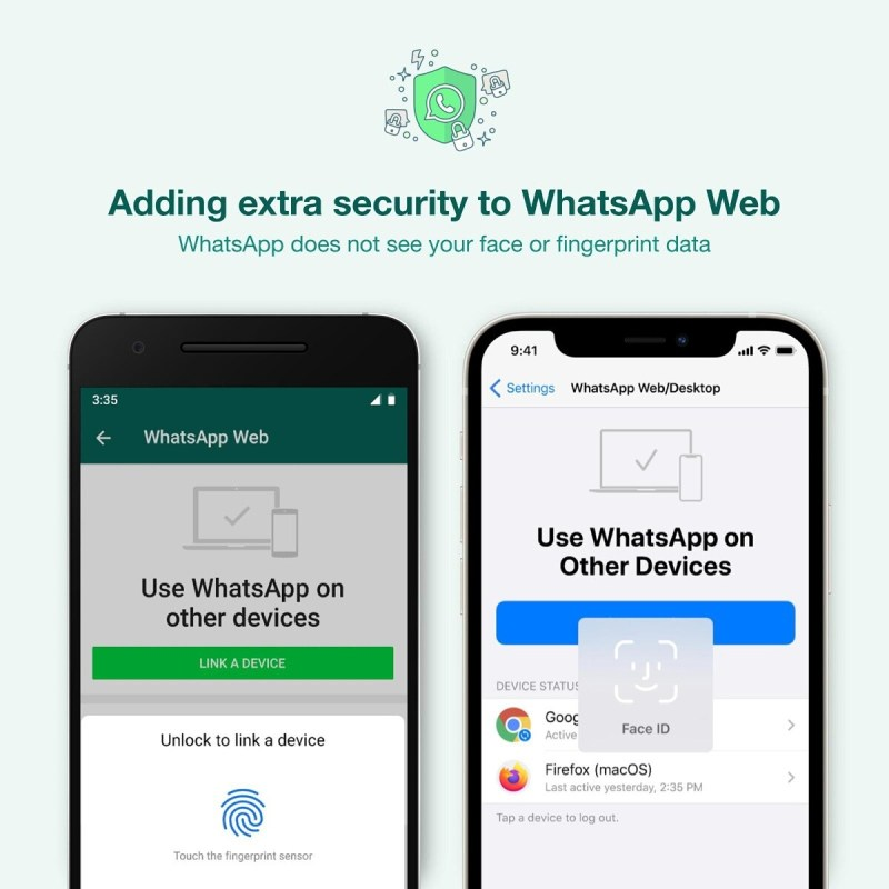 WhatsApp Web Biometric authentication