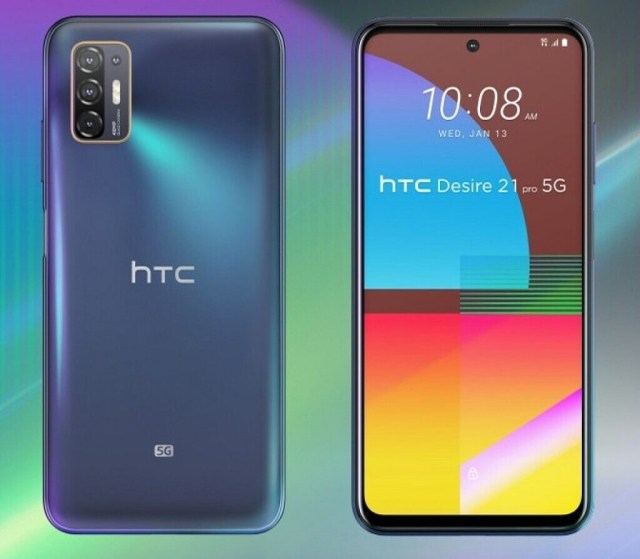 HTC Desire 21 Pro 5G front and back