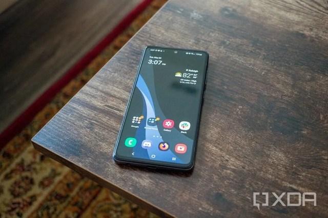 Galaxy A52 5G on a table