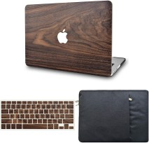 KECC Wooden Hardshell Case for MacBook Pro 13