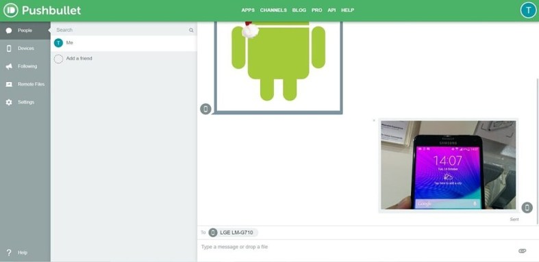 Pushbullet on PC