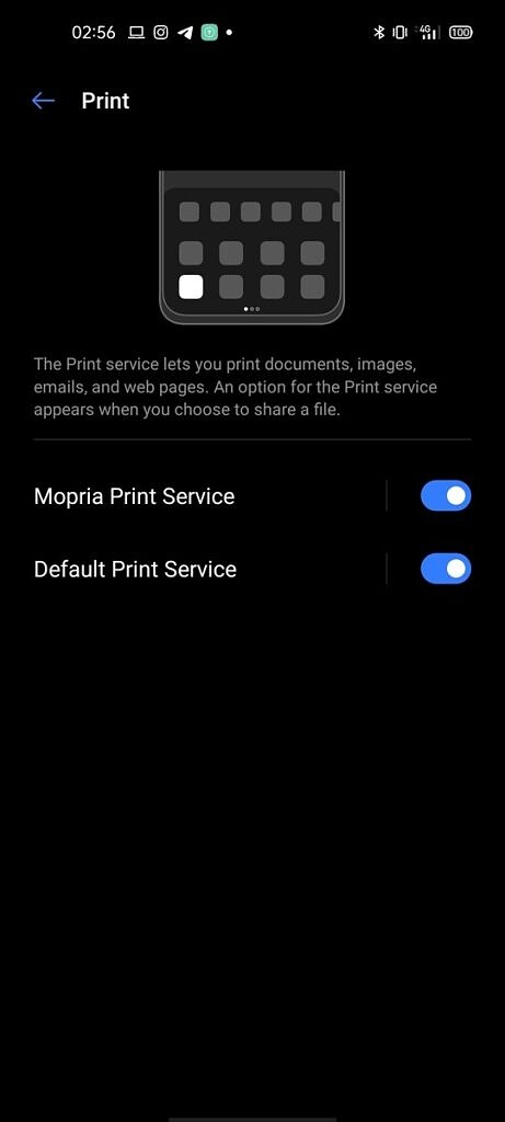 Android Print Settings