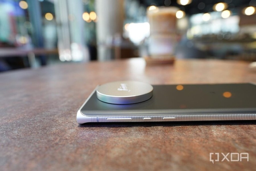 The lens cap sticks out of the Leica Leitz Phone 1's body significantly.
