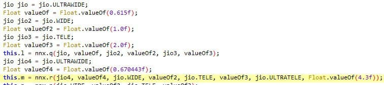 Google Camera 8.3.252 code snippet