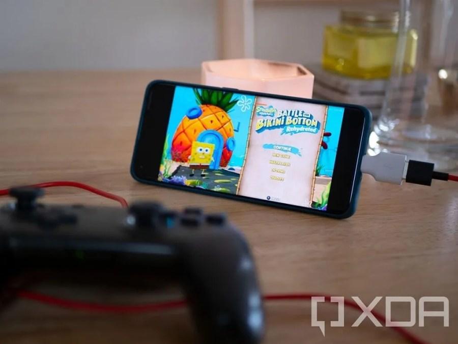 Spongebob Squarepants Battle for Bikini Bottom on the OPPO Find X3 Pro using Stadia