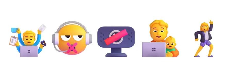 New Windows 11 emoji for Work from home scenarios