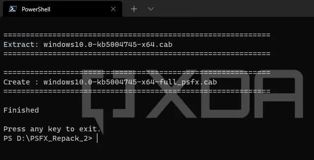 Windows LCU PSFX Repack