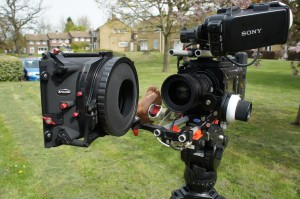The Alphatron Matte Box can be fitted with a quick release swing away adapter to make lens changes quick and easy.
