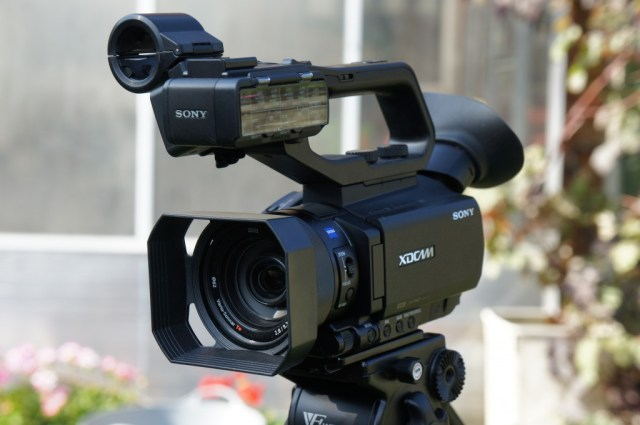 The new Sony PXW-X70 XDCAM camcorder.