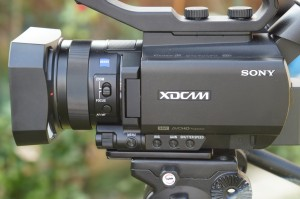The left side of the PXW-X70