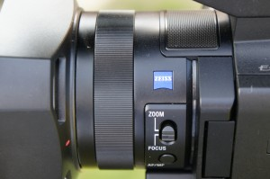 The zoom/focus ring on the PXW-X70.