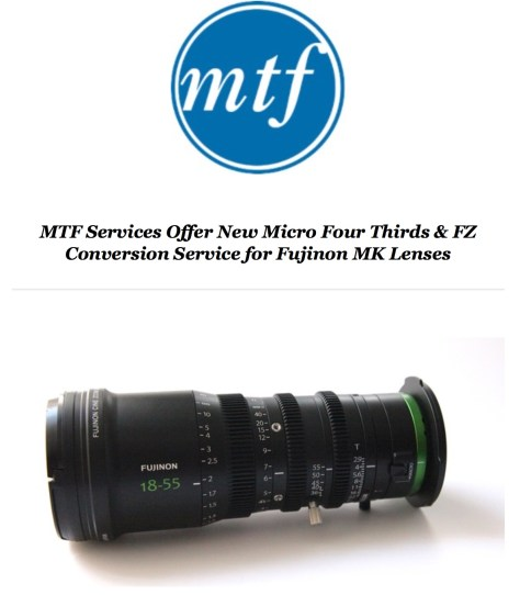MTF-FZ-MK-895x1024 MTF Services to provide 4/3rds and FZ mount options for Fujinon MK lenses.