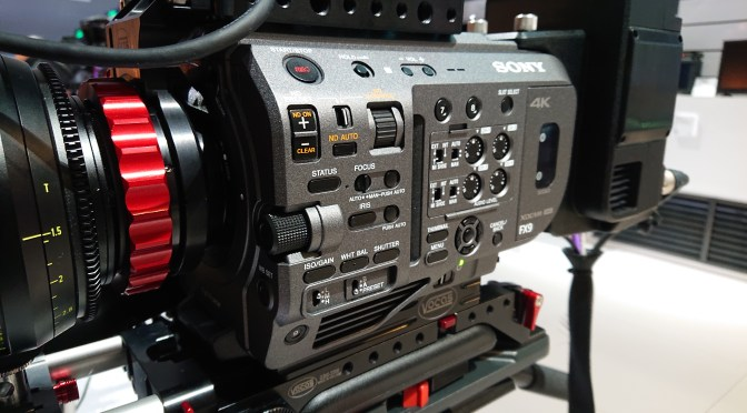 The FX9 has a large multifunction dial for menu navigation or iris/ND control.
