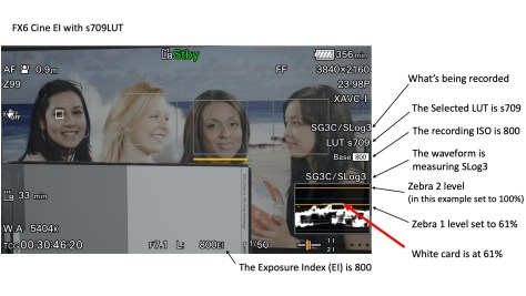 white-card-at-61 A Guide the the FX6's CineEI Mode.