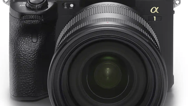 Sony Alpha 1. 8K, 10 bit Mirrorless Camera.