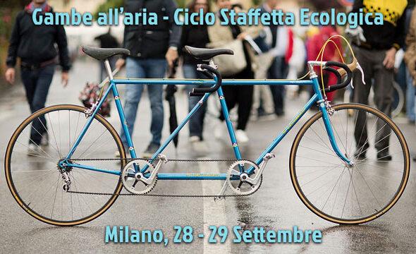 Gambe all'aria Ciclo Staffetta Ecologica