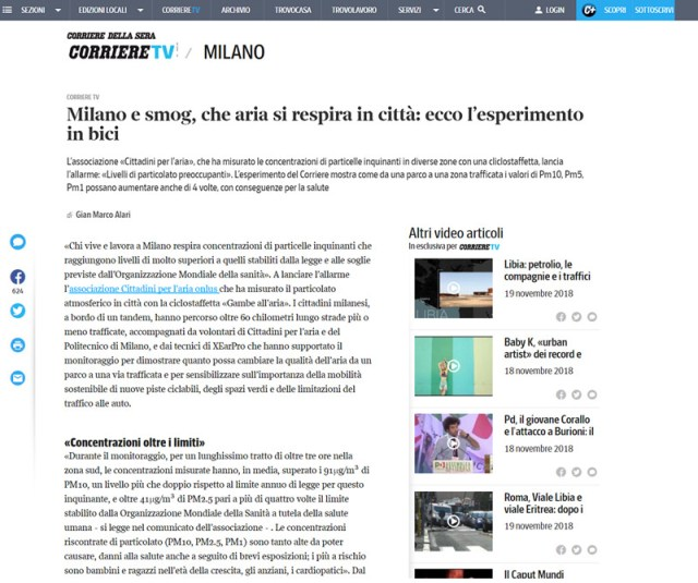XEarPro Cittadiniperlaria Articolo Corriere della Sera