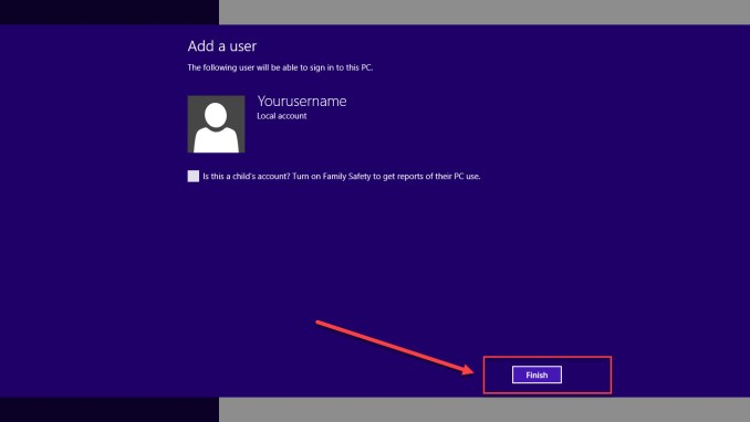 windows 8 and 8.1 Local Account