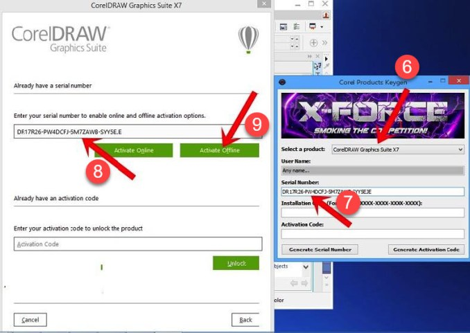 xforce keygen download corel draw x7