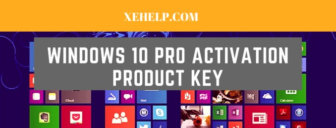 Windows 10 Pro Activation Product Key