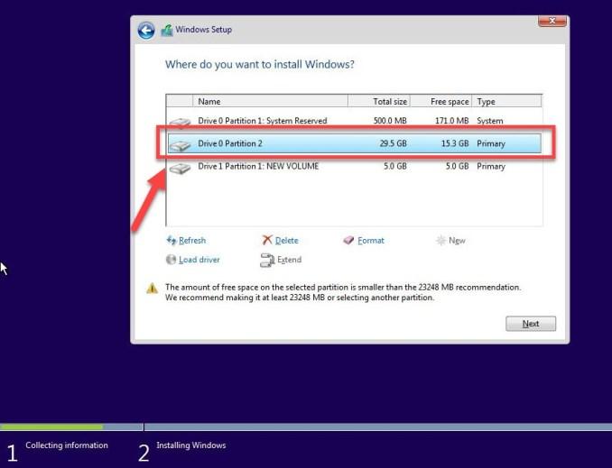 Drive 0 Partition 2 - Blue Screen Windows 10