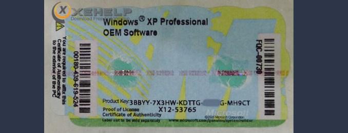 Windows xp professional sp3 product key