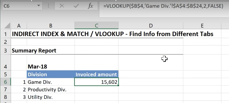 Easy Way To Lookup Values Across Multiple Worksheets In Excel