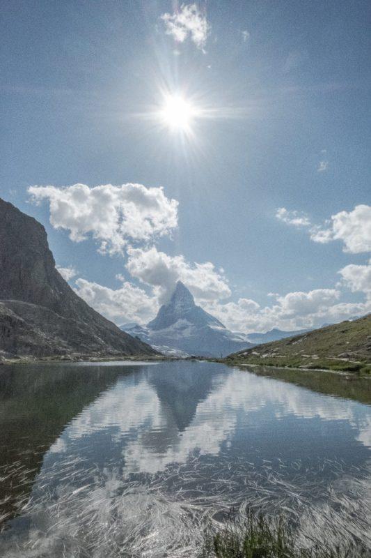 Sonne, Matterhorn, Riffelsee
