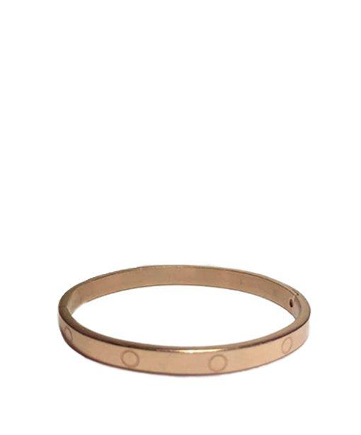Bracelet rigide en métal avec charnière – doré rose