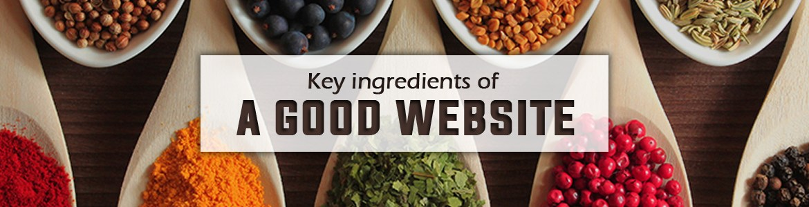 Key ingredients of a good website