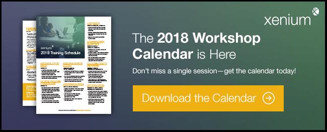 Download the 2018 Workshop Calendar
