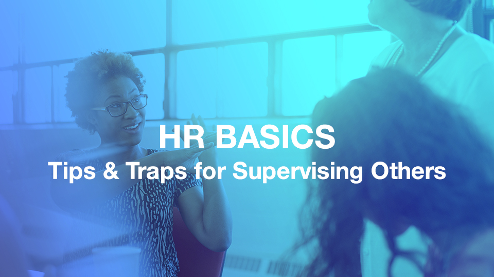 HR Basics web course for supervisors