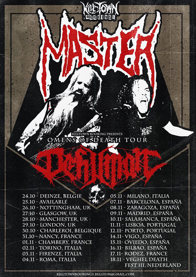 "MASTER and DEHUMAN ""Omens of Death"" Europe Tour 2017"