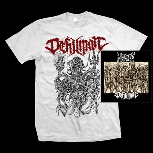 "MASTER / DEHUMAN ""Decay into Inferior Conditions"" LP+CD + DEHUMAN ""Morbid Sun"" T-SHIRT (male)"
