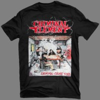 "CRIMINAL ELEMENT ""Criminal Crime Time"" T-SHIRT"
