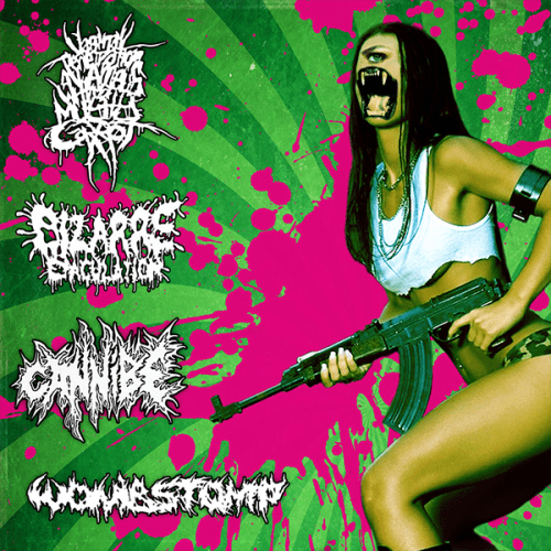 "VxPxOxAxAxWxAxMxC, BIZARRE EJACULATION, CANNIBE & WOMBSTOMP ""s/t"" CD"