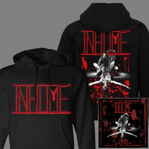 "INHUME ""Exhume: 25 Years of Decomposition"" CD + HOODED SWEAT SHIRT"
