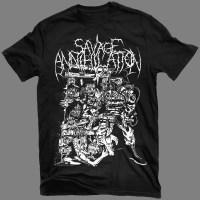"SAVAGE ANNIHILATION ""Cannibalisme, hérésie et autres sauvageries"" T-SHIRT / GIRLY"